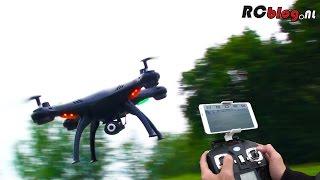 getlinkyoutube.com-Syma X5SW Explorers Wi-Fi FPV Quadcopter video review (NL)