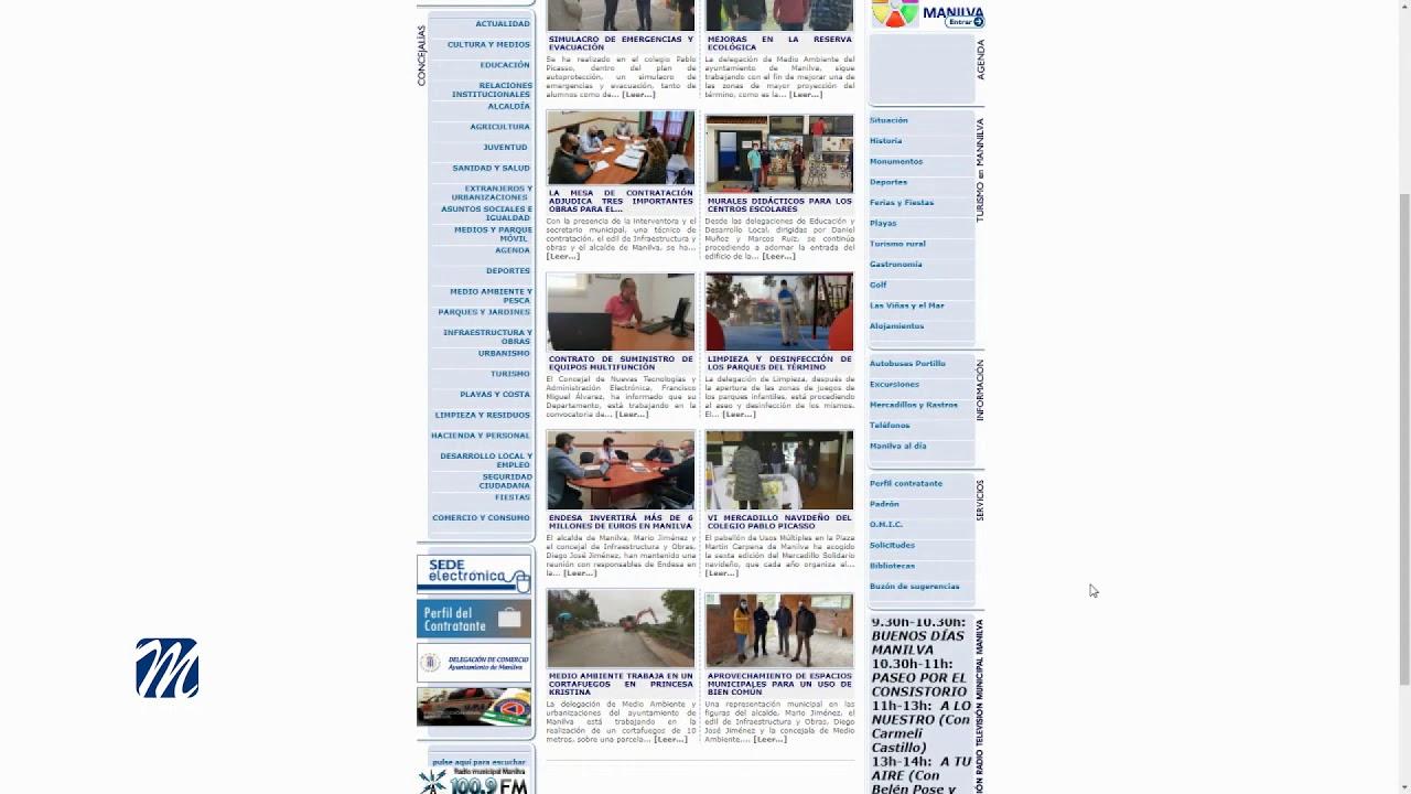 Ya se trabaja en la nueva página web municipal