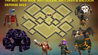 getlinkyoutube.com-Clash of clans - Town hall 9 best th9 war base defense+replay. Anti Gowipe ANTI Lava & Balloons