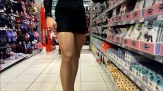 getlinkyoutube.com-Crossdresser im Einkaufscenter - Crossdresser in the supermarket