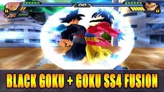 getlinkyoutube.com-Goku SSJ4 and Black Goku Fusion | Black Goku SSJ4 | DBZ Tenkaichi 3 (MOD)