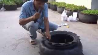 getlinkyoutube.com-ตัดยางรถทำกระถาง