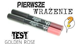 getlinkyoutube.com-TEST/ PIERWSZE WRAŻENIE - Golden Rose Matte Lipstick Crayon