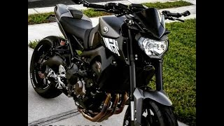 getlinkyoutube.com-fz-09 mt-09 arrow exhaust ride around town, yamaha fz motorcycle street bike