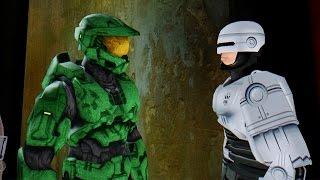 getlinkyoutube.com-Master Chief vs Robocop