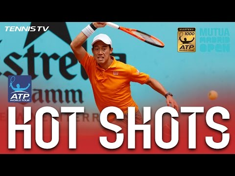 Nishikori Stays One Step Ahead In Madrid 2017 Hot Shot