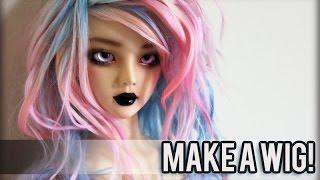 getlinkyoutube.com-Making a Custom Doll Wig: Pastel Ombre Curls!