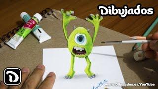 getlinkyoutube.com-Wazowski - Monsters University - Dibujo en 3D - Dibujados