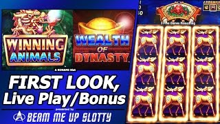 getlinkyoutube.com-Winning Animals / Wealth of Dynasty Slots - First Look at Konami's Asian Themed Progressive slots