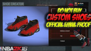 getlinkyoutube.com-*MUST SEE* - NBA 2K16 DO NOT BUY CUSTOM SHOES (EMAIL PROOF FROM 2K)