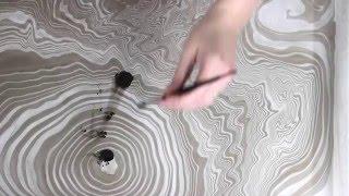 getlinkyoutube.com-Suminagashi Paper Marbling DIY Japanese Water Marbling (How to Marble Paper)