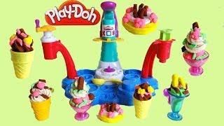 getlinkyoutube.com-Play Doh Magic Swirl Ice Cream Shoppe Unboxing