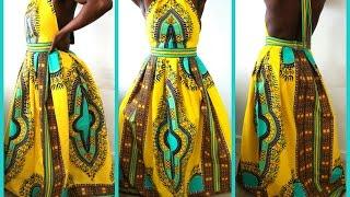 getlinkyoutube.com-DIY  HIGH NECK DASHIKI PRINT DRESS  HOW TO SEW A ZIPPER FOR SUPER BEGINNERS.