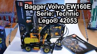 getlinkyoutube.com-LEGO Volvo EW160E Mobilbagger (Set 42053 Technic Review deutsch)