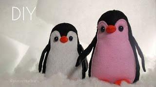 getlinkyoutube.com-Pinguino de Fieltro //Peluche Con Moldes