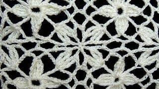 Crochet : Uniones Motivo Cuadrado de 4 petalos
