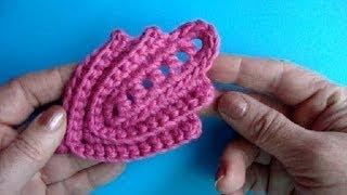 getlinkyoutube.com-Как вязать листик крючком Урок289 How to crochet leaf