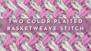 getlinkyoutube.com-How to Knit the Two Color Plaited Basketweave Stitch