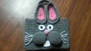 getlinkyoutube.com-CROCHET How To #Crochet Bag - #Crochet Bunny Bag Tutorial #22
