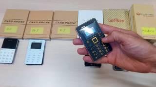 getlinkyoutube.com-Обзор Мини телефонов Cardphone. AIEK M4, AIEK M5, QMART Q5, AIEK K5, MELROUSE G1, AEKU I6.