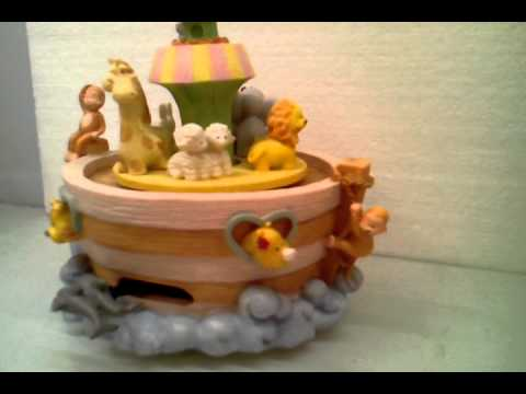 Animated Vintage Resin Noah's Ark Home Decoration 6.3incH Music Box Handicrafts MP-2097