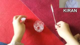 getlinkyoutube.com-Tutorial Membuat Bunga Mawar dari Botol Bekas
