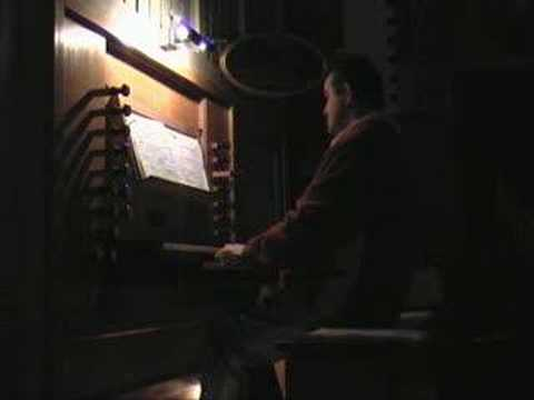 Jack Swaanen playing the organ in asten (holland)
