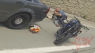 getlinkyoutube.com-Motorcycle Wheelies Into Police Car Rider Arrested By Cops Raw Footage Bike VS Cop Wheelie FAIL