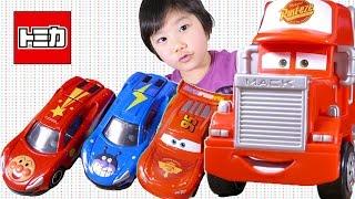 アンパンマン おもちゃ と カーズ トミカ トレーラーマック ばいきんまん マックイーン 3CPO Anpanman Cars McQueen Tomica & Mack Truck Playset