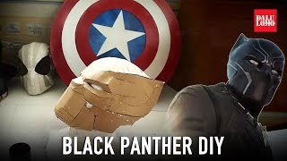 getlinkyoutube.com-#116.1: Black Panther Helmet Part 1 - Template & Cardboard (free download) Costume How To | Dali DIY
