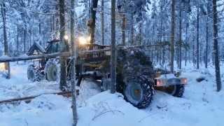 getlinkyoutube.com-Stegmatare monterad på skogsvagn