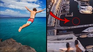 Top 10 CRAZIEST Cliff Jumps On Youtube 2016! Do NOT Click If You're Afraid Of Heights!