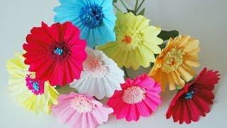 getlinkyoutube.com-Kwiaty z bibuły gerbera krok po kroku # Paper flowers gerberas DIY