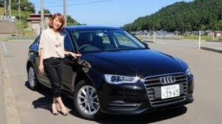 getlinkyoutube.com-アウディ 新型A3 スポーツバック 試乗(MMI)の使い勝手【女性レポーターが試乗 第13弾】