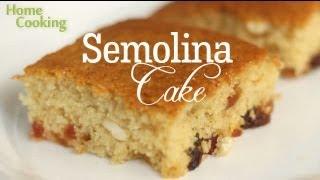 getlinkyoutube.com-Semolina Cake Recipe | Ventuno Home Cooking