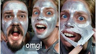 getlinkyoutube.com-GLAM GLOW SILVER PEELING MASK! - FIRST IMPRESSION FRIDAY!