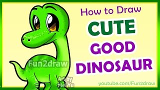 How to Draw The Good Dinosaur