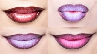 getlinkyoutube.com-Ombre Lips Tutorial with 3 Different Styles | milavictoria