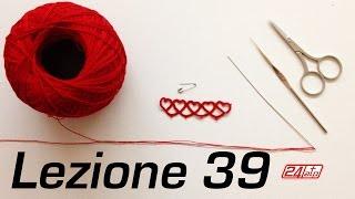 getlinkyoutube.com-Chiacchierino Ad Ago 39˚ Lezione Trionfo di Cuori Tutorial Come Fare Needle Tatting How To Heart