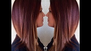 getlinkyoutube.com-Redken Blurring|Auburn/Red Hair with Olaplex