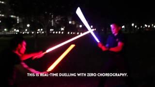 getlinkyoutube.com-RAW footage, REAL TIME lightsaber dueling - Zero Choreography. The Saber Authority Singapore