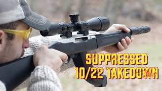getlinkyoutube.com-Tactical Solutions SBX Barrel for 10/22 Takedown - Suppressed and Compact