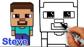 getlinkyoutube.com-How to Draw Steve from Minecraft Cute and Easy for Beginners