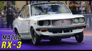 getlinkyoutube.com-Mazda RX-3 rotary 13B & 20B drag