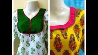 getlinkyoutube.com-DOUBLE PIPING NECKLINE - EASY SEWING - DIY