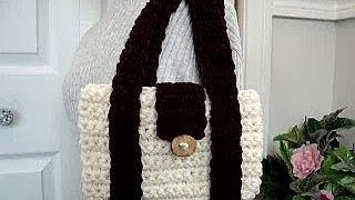 getlinkyoutube.com-CROCHET MIMI BAG, how to diy, shoulder bag, laptop bag, school bag, messenger bag