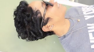 getlinkyoutube.com-How to curl short hair (black hair)