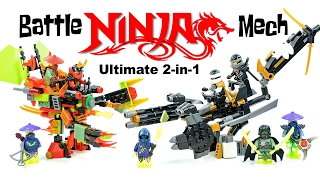 getlinkyoutube.com-Ninjago Ultimate Battle Mech 2-in-1 w/ Cole Zane Samurai X & Ronin Unofficial LEGO Sets