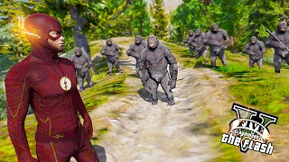 getlinkyoutube.com-The Flash VS Gorilla Grodd ! The Gorilla City (GTA 5 Ultimate Flash Mod Gameplay)🏃🏽⚡️