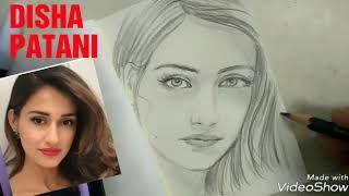 Drawing potrait boliwood star DISHA PATANI slow version EASY TUTORIAL | menggambar wajah selebrities